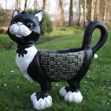 Dekofigur Katze zum Bepflanzen Tierfigur Pflanztopf Kater Mieze Blumentopf