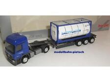 "Herpa 902816 ""MB Actros Sattelzug Lehnkering mit Container H0"" 1/87 neu, OVP"