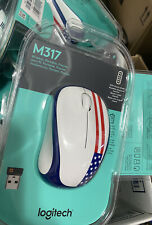 Logitech M317c 910-004020 Wireless Advanced Optical Mouse, American Flag