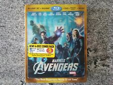 The Avengers 3D with Lenticular Slipcover Marvel (Blu-ray/DVD, 2012, 4-Disc Set)