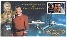 Ca17-004, 2017, Star Trek, Fdc, Admiral Kirk, Khan, Wrath of Khan