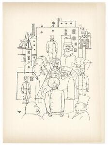 George Grosz original lithograph - Deutsche Graphiker der Gegenwart - 1920