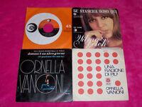 """Wilma GOICH + Ornella VANONI Lotto 4 x 7"""" 45 Giri Singoli Una Ragione Di Più..."""