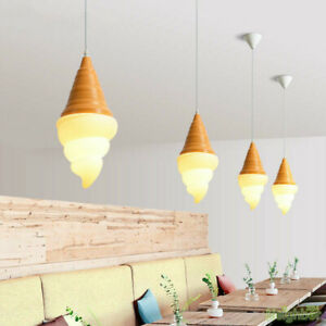 Ice Cream Pendant Light Modern Kitchen Led Hanging Lamp Bedroom Cafe Home Decor