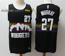 Men's Denver Nuggets Jamal Murray #27 Black Stitched