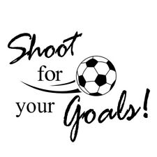 PVC Removable 57 40cm Shoot For Your Goal Football Theme Wall Stickers