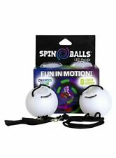 Fun In Motion - Spinballs - Flow Poi Balls - Spinning LED Light Toy - Light Up -