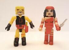 Marvel Universe Minimates Yellow DAREDEVIL & ELEKTRA Figures Art Asylum 2003