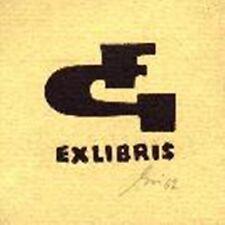EXLIBRIS gesso taglio-Monogramma FG-Franz grickschat nr 11 firmato