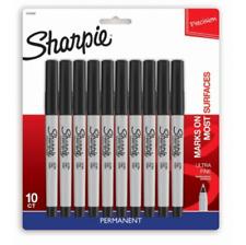 10ct Permanent Markers Ultra Fine Black Sharpie