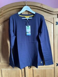 JOULES WOMENS SELMA LONG SLEEVE TOP T-SHIRT - FRENCH NAVY - SIZE 26 - LAST ONE!