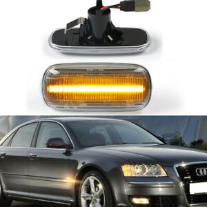 For Audi A6 A8 A2 A3 A4 TT 8N Sequential LED Side Marker Blinker Signal Light 2x