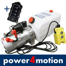 4L Hydraulikpumpe+ FUNK, 12V Hydraulikaggregat für Anhänger Stapler LKW Kipper