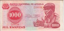 ANGOLA BANKNOTE P117 1000 1.000 1,000  KWANZAS 1979, VF
