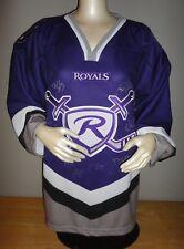READING ROYALS OT Brand Purple Heat Pressed Team Jersey w/ AUTOGRAPHS - Adult Lg