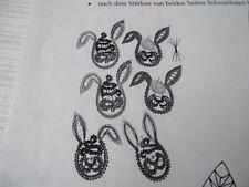 Klöppeln Klöppelbrief 576 Hasenköpfe Klöppelbedarf Basteln Handarbeit Dekoration