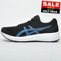 Asics Patriot 12 Men's Premium Running Shoes Fitness Gym Workout Trainers Black