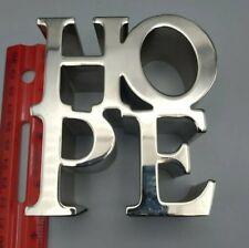 Robert Indiana Style HOPE Pop Art Modern Metal Sculpture Paperweight Desktop