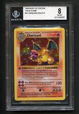 Charizard Holo Pokemon Card 1st Edition Thick Stamp Base Set 4/102 ARK PSA BGS 8