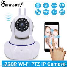 720P HD WiFi Wireless Pan Tilt Security PTZ IP Camera IR Two-way Audio Tilt Cam