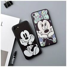 Disney Cartoon Mickey Minnie Back Phone Case Cover For iPhone XS X 6s 7 8 Plus