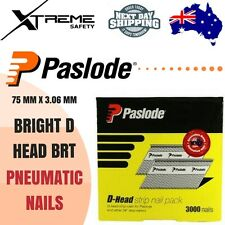 Pneumatic Nails Paslode 75mm x 3.06mm Nail Gun Nailer Bright D Head BRT B20467