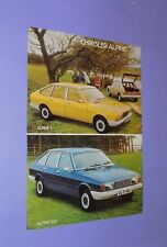 * 1977 * CHRYSLER ALPINE S/Alpine GLS * Opuscolo originale di vendita/FLYER *