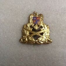 Romanian Army Officer Cap Badge 1990s-Model 1