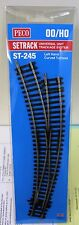 HO Scale - PECO SETRACK ST-245 INSULFROG Code 100 L/H Curved DBL Radius Turnout