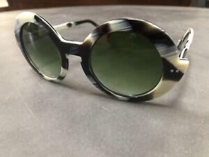 Be Val De Loire 85 Sabine Be Women's Sunglasses Horn Tortoise Unique Round Frame