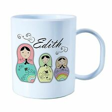 Personalised Plastic Unbreakable Kids Cup, Toddler Cup Russian Doll Theme for Gi