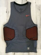 NIKE PRO COMBAT COMPRESSION PADDED SHIRT (DRY FIT) MEN'S 3XL GRAY