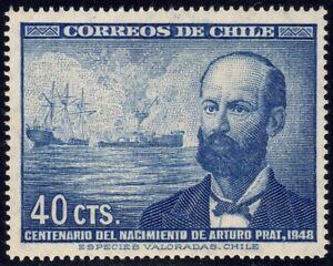 1948 Chile SC# 251 - Arturo Prat Chacon and Iquique Naval Battle - M-NH