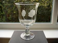 Etched Vase Antique Original Glass