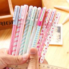 10Pcs/set Multi Colors Colorful Gel Ink Pen Pin Type Kawaii Stationery 10 pens