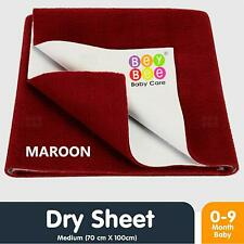 Beybee Baby Waterproof Bed Protector Sheet - Medium (Maroon) US