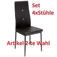 4 x Esszimmerstühle DIAMOND - schwarz - Esszimmerstuhl Küchenstuhl Stuhl Stühle