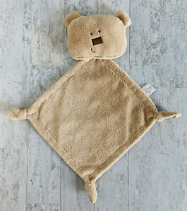 Baby Gund Simply Modern Bala Bear Tan Security Blanket Lovey Plush 4036995