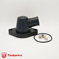"""Billet Aluminum Swivel Water Neck Ford FE 360 390 427 428 1.25"""" Black"""