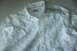 Tommy Bahama Shirt Just Maui'D White Embroidered ST325087 Linen LS New Large L