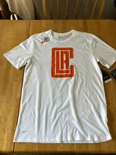 NWT Nike LA Los Angeles Clippers City Logo Shirt White 890845-100 Men's M Medium