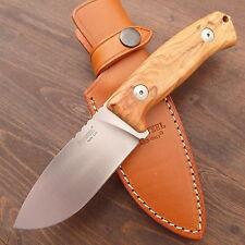 LionSteel Hunting M2 Olive Messer - Jagdmesser - Gürtelmesser  + Lederscheide