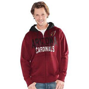 NFL Arizona Cardinals Officially Licensed Men's Full Zip Hoodie G-III Red