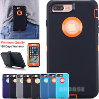 Shockproof Armor Case Heavy Duty Belt Clip Holster iPhone X 8 7 6 Plus XS Max XR