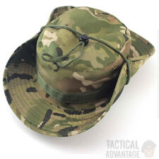 Multicam Boonie Bush Jungle Hat Wide Brim Army Military Sun Cap Cadet Bucket UK