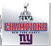 "New York Giants NY Super Bowl Championship 3.5"" Static Cling Champions Football"