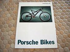 PORSCHE OFFICIAL BIKE FS BIKE S SHOWROOM SALES BROCHURE 1996 GERMAN.
