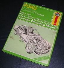 1983-87 FORD ORION 1.3/1.4/1.6 PETROL HAYNES WORKSHOP MANUAL  1009
