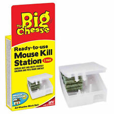 Big Cheese Ready to Use 2x MOUSE KILL STATIONS - All Weather Block Bait 1899-1