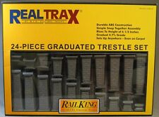 MTH REAL TRAX GRADUATED TRESTLE SET train track elevated bridge piers 40-1033